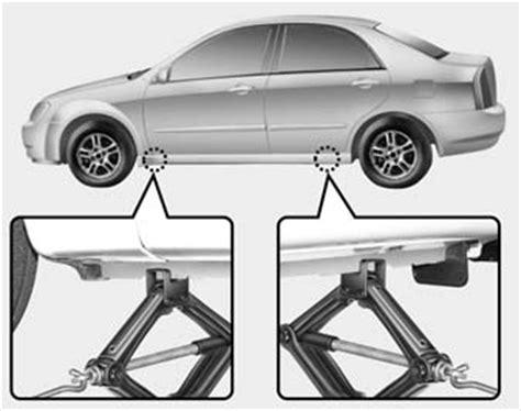 kia optima changing tires jack  tools