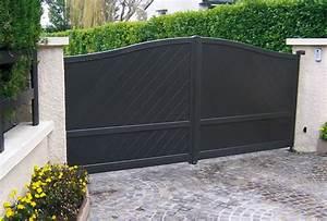 Fixation Portail Battant : portail aluminium battant limnos marron d 39 inde portail ~ Premium-room.com Idées de Décoration