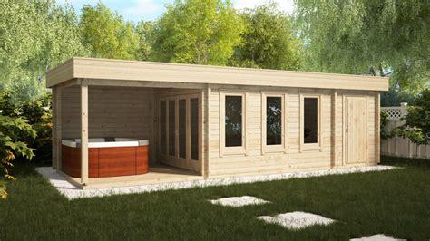 gartenhaus mit schuppen gartenhaus mit schuppen und veranda jacob e 18m 178 44mm 3x9m hansagarten24