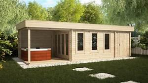 Gartenhaus Mit Lounge : gartenhaus mit schuppen und veranda super jacob e 18m 44mm 3x9m hansagarten24 ~ Indierocktalk.com Haus und Dekorationen