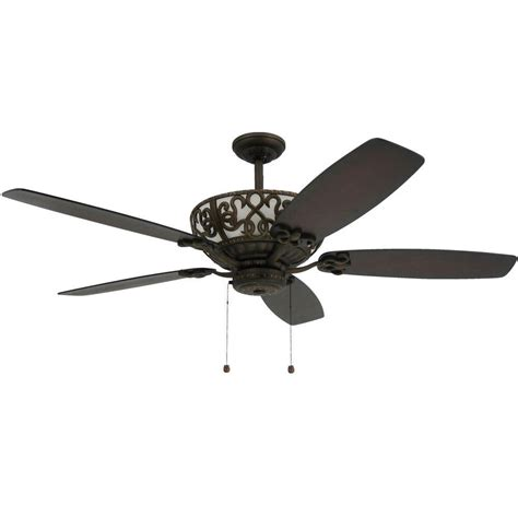 troposair excalibur 60 in rubbed bronze uplight ceiling fan 204163194