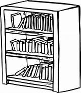 Bookshelf Bookcase Coloring Shelf Drawing Clipart Pages Bible Shelves Draw Library Sketch Drawings Drawer Sheet Template Easy Drawn Getdrawings Shelving sketch template