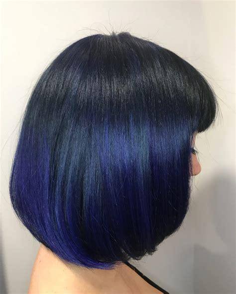 Directions Midnight Blue Bob Balayage Hair Colors Ideas