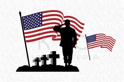 Soldier Svg Fallen Flag Veterans Memorial American