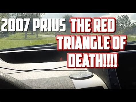 dealing   red triangle  death    prius