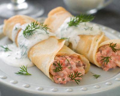 cuisine sans gluten sans lait recette crêpe salées au saumon