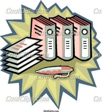 Accounting Records Clip Art