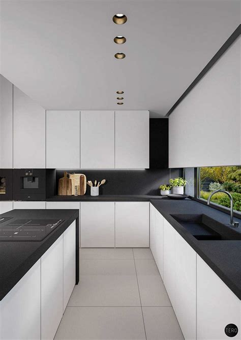 modern black and white kitchen designs best black and white kitchen photo kitchen gallery image 9754