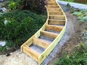 Construire Un Escalier De Jardin by Gruffyterrasse Youtube