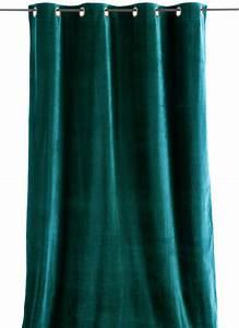 Rideaux Velours Bleu : lyric rideau en velours paon ~ Teatrodelosmanantiales.com Idées de Décoration