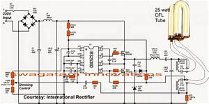 Single Ic Dimmable Ballast Circuit