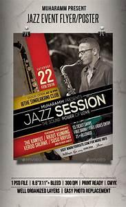 Portfolio Psd Template Jazz Event Flyer Poster Event Flyer Poster Template