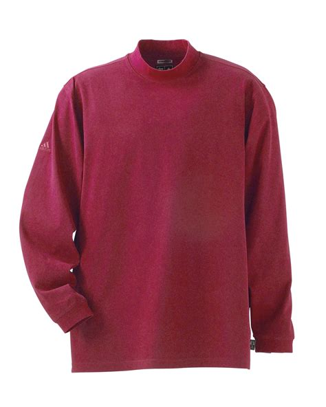 adidas mens climalite ls sueded jersey mock long sleeve shirt