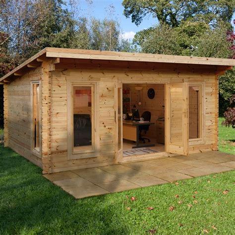 log cabin shed sancerre log cabin 5m x 4m 44mm great garden uk