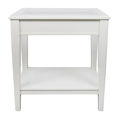 west elm side table 85 off west elm west elm white glass and wood side
