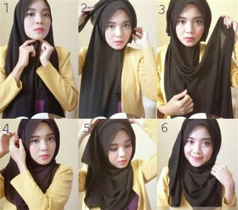 hijab styles step  step simple google search tutorial hijab mudah jilbab sederhana