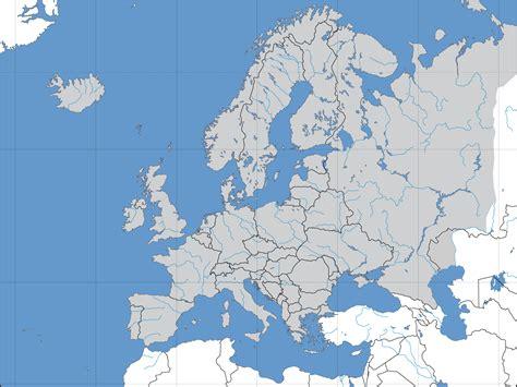 Mapa político mudo de Europa - Tamaño completo