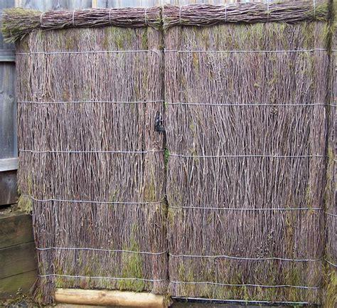 gates brushwood fencing