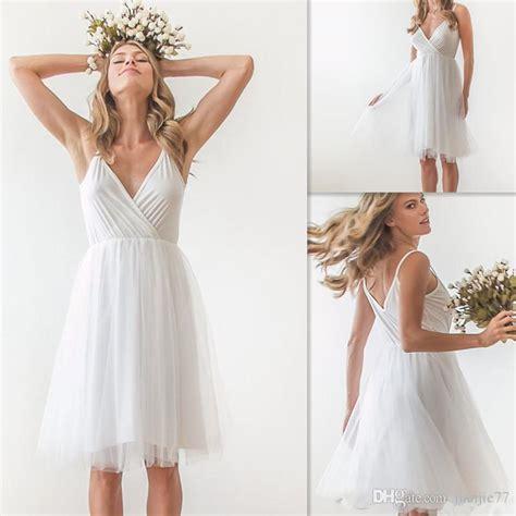 discount simple wedding dresses 2017 white chiffon
