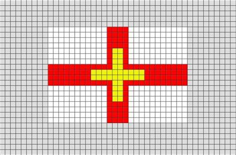 flag of guernsey pixel brik pixel designs
