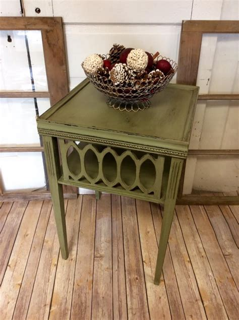 accent table  nantucket green chalk style paint