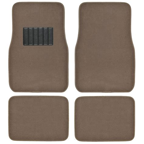 car floor mats brown carpet car floor mats set of 4 driver passenger and utility pads beige ebay