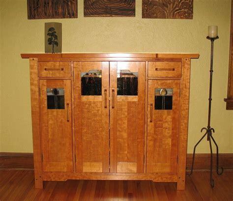 Custom Made Greene & Greene Liquor Cabinet by Timeless