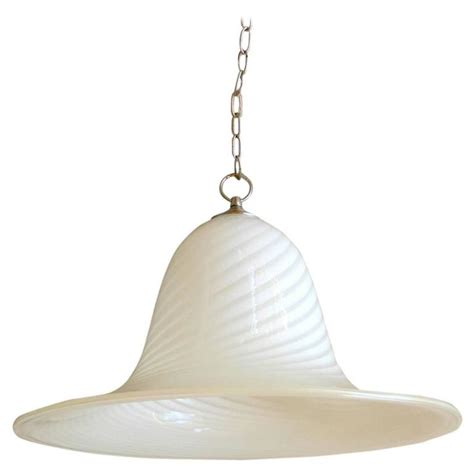 large seguso style murano glass pendant light fixture