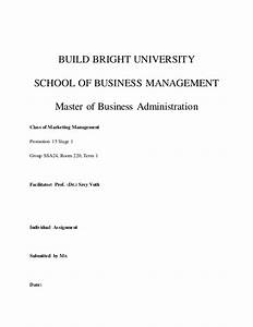Marketing Strategy Assignment Writing A Research Project Proposal