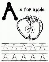 Apple Coloring Apples Letter Printable Sheets Worksheets Packet Preschool Writing Practice Pie Abc Kindergarten Letters Alphabet Packets Learning Printables Massive sketch template