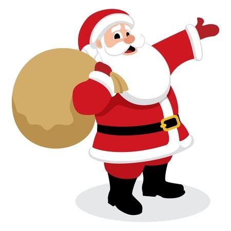 santa claus presents vector cartoon christmas break presenting something employment father shutterstock illustration winter karate merry gift under vectors until