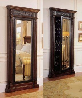 Floor Jewelry Armoire With Mirror by Floor Standing Mirror Jewelry Armoire Foter