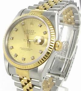 Rolex Uhr Herren Gold : rolex datejust herren uhr mit brillanten stahl gold 16233 ebay ~ Frokenaadalensverden.com Haus und Dekorationen