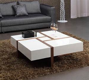 White high gloss MDF coffee table - 003 - Bona (China ...