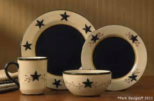 country primitive dishes star vine dinnerware by park