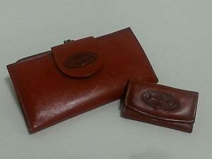 Rolfs Cowhide by Rolfs Brown Wallet Organizer Key Fob Vtg Cowhide Leather