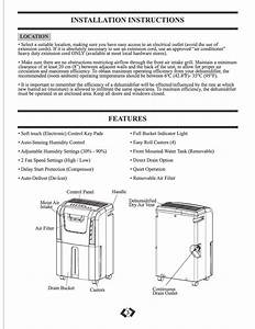 Page 4 Of Danby Dehumidifier Ddr30a2gp User Guide