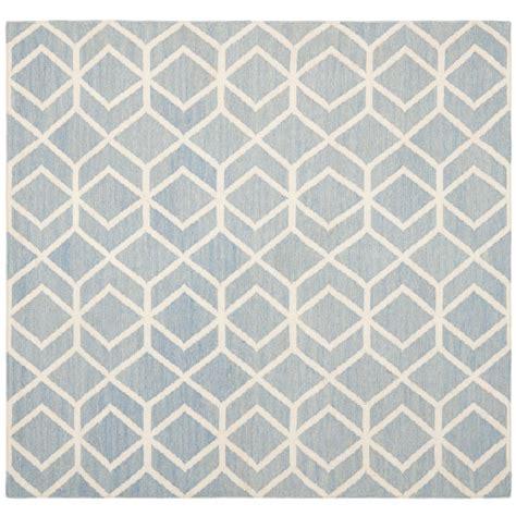safavieh dhurries safavieh dhurries blue ivory 6 ft x 6 ft square area rug