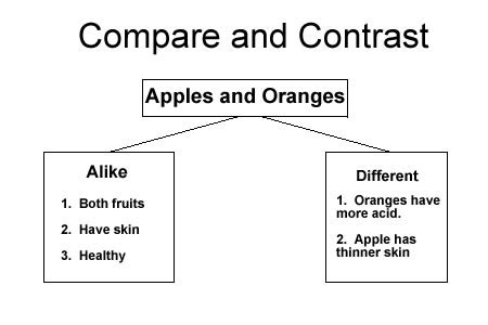 compare and contrast ereading worksheets