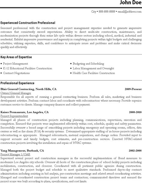 Project Manager Sle Resume Format by 31 Best Resume Formats Free