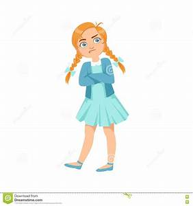 Stubborn Girl Teenage Bully Demonstrating Mischievous ...