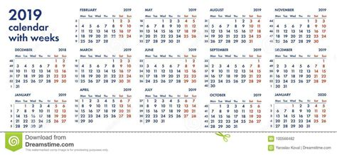 calendar grid weeks illustration stock illustration