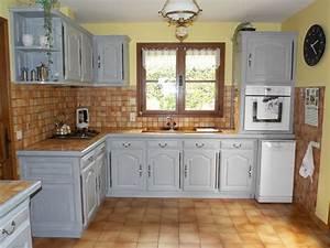 meubles de cuisine relookes kreative deco With superb peindre des poutres en bois 14 renover une maison ancienne
