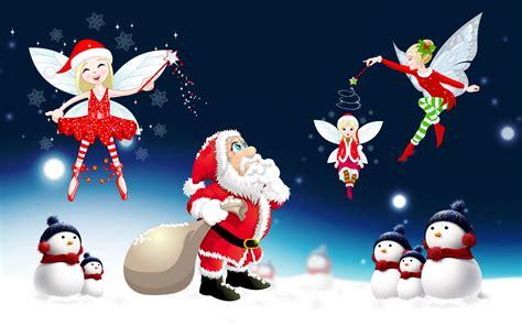 merry christmas santa claus desktop hd wallpaper