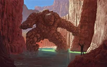 Fantasy Golem Artwork Desktop Wallpapers Backgrounds Mobile