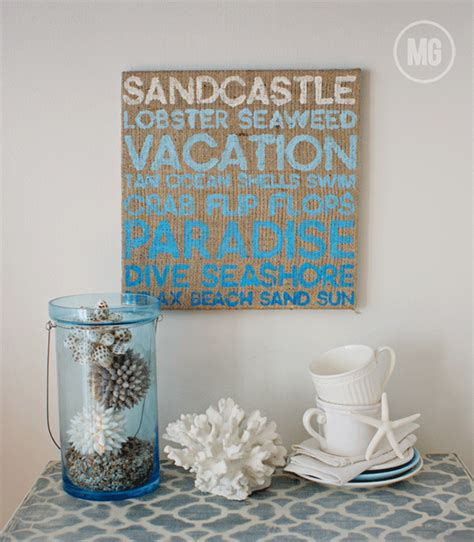 Beach theme gallery wall with free printable beach. Midwestern Girl: summertime wall art...with #CanvasCorp | Beach theme wall decor, Diy canvas art ...