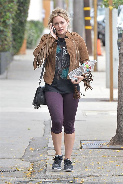 Hilary Duff in Leggings - Out in West Hollywood, May 2015 ...