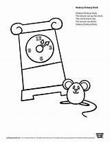 Hickory Dock Dickory Coloring Worksheets Clock Rhyme Speakaboos Printables Nursery Thumbkin Worksheet Mouse Preschool Activities Songs Rhymes Cartoon Pre Printablee sketch template