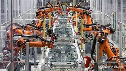 Robot Kuka Welding Industrial Volkswagen Slovakia Factory