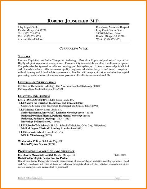 Radiologist Resume by 10 Radiology Resume Professional Resume List